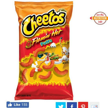 Cheetos Flamin' Hot Crunchy Cheese Flavored Snacks uploaded by Brenda O.