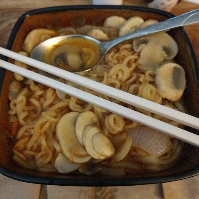 Nongshim Shin Ramyun Noodle Soup, 4.2 oz, 10 count uploaded by Jessica S.