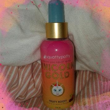 Photo of Unicorn Gold Air Freshener Spray Scent - Squatty Potty, Yellow uploaded by Kayla M.
