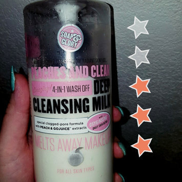 Photo of Soap & Glory Peaches And Clean(TM) Deep Cleansing Milk uploaded by Michelle H.
