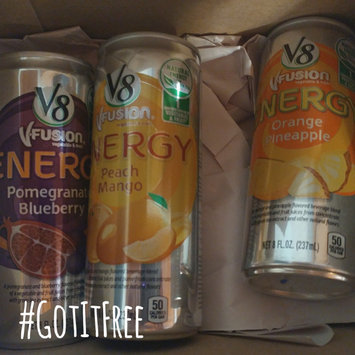Photo of V8® V-Fusion + Energy Peach Mango Flavored Vegetable & Fruit Juice uploaded by Eileen T.