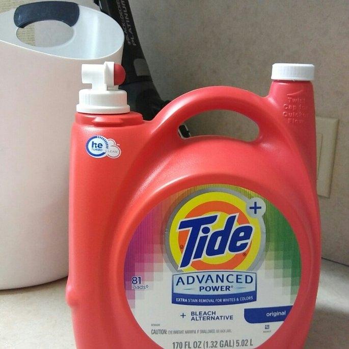 Tide Advanced Power Plus Bleach Alternative Liquid Laundry Detergent, HE Turbo Clean, 170 oz, 81 loads uploaded by Leidi R.