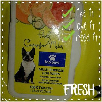 Photo of Top PawA Fresh Cucumber Melon Multi-Purpose Dog Wipe uploaded by Maria M.