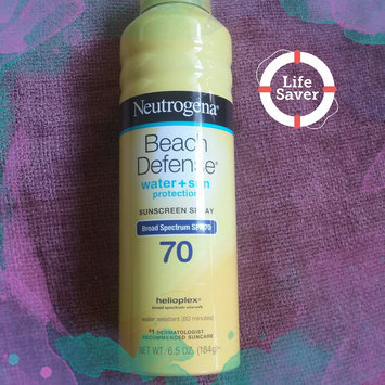 Photo of Neutrogena® Beach Defense® Water + Sun Protection Sunscreen Spray Broad Spectrum SPF 70 uploaded by Darby S.
