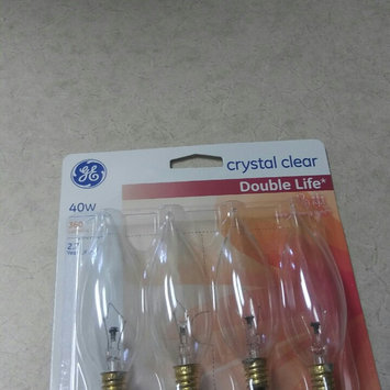 Photo of GE Lightbulbs 40-Watt Incandescent CA10 Bent Tip Decorative Candelabra Base Double Life Clear Light Bulb (4-Pack) 40CAC2L/CLTP4/12 uploaded by Leidi R.