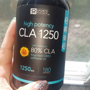 Photo of Sports Research CLA 1250 (Highest Potency) 180 Veggie Softgel Capsules. Vegan Safe, non-GMO and Gluten Free Natural Weightloss Supplement - Made in USA uploaded by Delilah S.