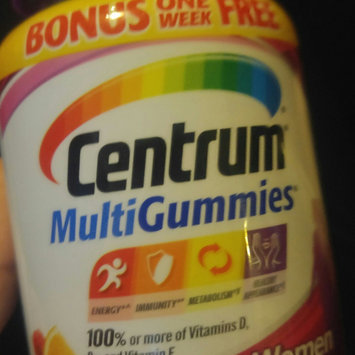 Centrum® MultiGummies® Natural Cherry, Berry & Orange Women Gummies Multivitamin/Multimineral Supplement 84 ct Bottle uploaded by B C.