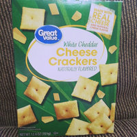 Wal-mart Stores, Inc. Great Value White Cheddar Cheese Baked Snack Crackers, 12.4 oz uploaded by Madison L.