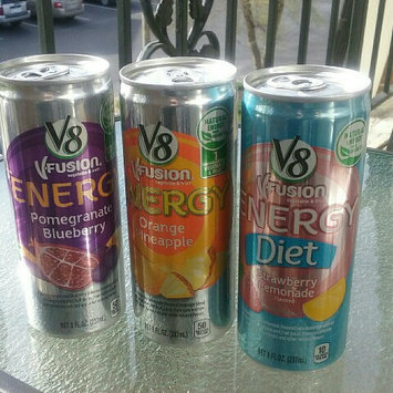 Photo of V8® V-Fusion + Energy Peach Mango Flavored Vegetable & Fruit Juice uploaded by Arlette P.