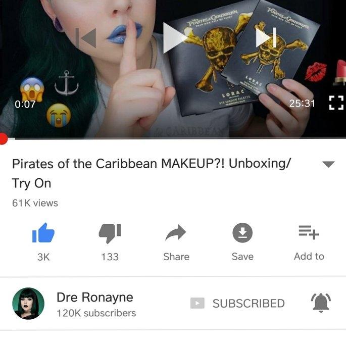 Disney's Pirates of the Caribbean Cheek Palette uploaded by Katt C.