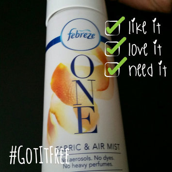 Photo of One Febreze ONE Fabric and Air Mist, Mandarin Scent (1 count, 10.1 oz) uploaded by Keshia D.