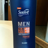 Suave Men Anti Dandruff Pure Power 2 in 1 Shampoo and Conditioner, 28 oz uploaded by Jessica S.