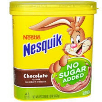 Nesquik Chocolate Powder, No Sugar Added, 16-Ounce Unit (Pack Of 6) uploaded by diana i.
