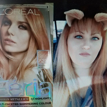 Photo of Feria Multi-Faceted Shimmering Colour Fashion Metallics 822 Medium Iridescent Blonde Hair Color 1 kt Box uploaded by Shirley S.