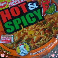 Nissin Bowl Noodles Hot & Spicy Chicken Noodle Soup uploaded by rayzhane a.