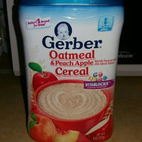 Gerber® Oatmeal & Peach Apple Cereal 8 oz. Canister uploaded by Alanna C.