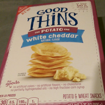 Photo of Good Thins White Cheddar Potato Snacks 3.75 oz. Box uploaded by Ladeja G.