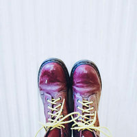 Dr. Martens Men's 1460 Classic Boot [Cherry Red Rouge Leather, 14 F(M) UK / 16 B(M) US Women / 15 D(M) US Men] uploaded by Amber H.
