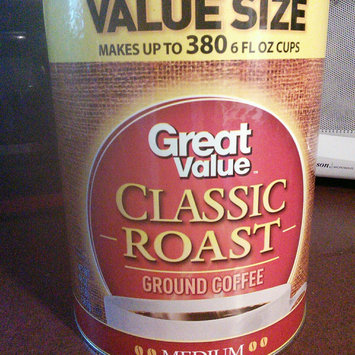 Photo of Great Value Classic Roast Medium Ground Coffee, 48 oz uploaded by Leslie V.