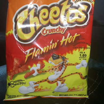 Cheetos Flamin' Hot Crunchy Cheese Flavored Snacks uploaded by jessica w.