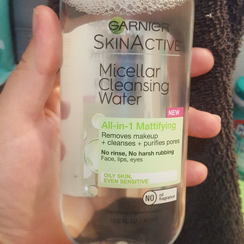 Garnier Skin Skinactive Micellar Cleansing Water All-In-1 Cleanser and Waterproof Makeup Remover uploaded by Kayla T.