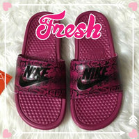 black Nike Girls' Kawa Slide Sandals from Finish Line uploaded by Gem L.