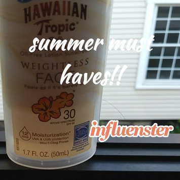 Photo of Hawaiian Tropic Silk Hydration Sunscreen Face Lotion with SPF 30 - 1. uploaded by Nicole Z.