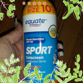 Photo of Equate Sport Continuous Spray Sunscreen, SPF 50, 10 fl oz uploaded by Bev M.