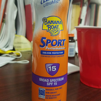 Photo of Banana Boat Sport Performance Clear UltraMist Sunscreen Spray With PowerStay Technology uploaded by Amber D.