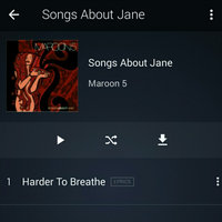 A & M/octone Records/universal SONGS ABOUT JANE BY MAROON 5 (CD) uploaded by Sarah L.