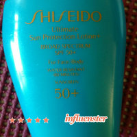 Shiseido Ultimate Sun Protection Lotion+ SPF 50+ uploaded by Lisa D.