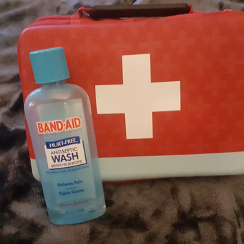 Band-Aid® Brand First Aid Hurt-Free™ Antiseptic Wash Wound Cleansing 6 Fl Oz Plastic Bottle uploaded by jaime H.