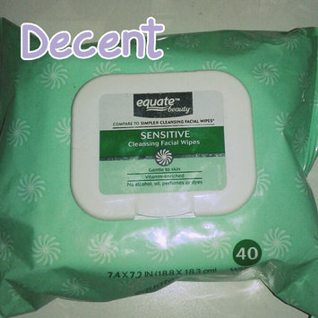 Equate sensitive skin facial wipes uploaded by Seirria M.