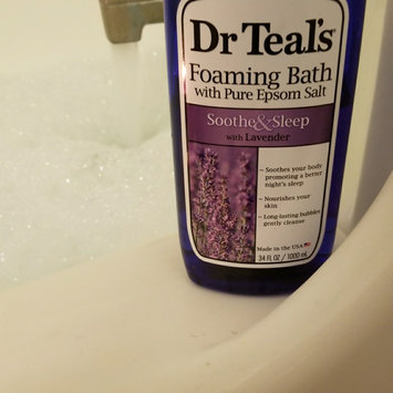 Dr. Teal's Foaming Bath, Soothe & Sleep with Lavender 34 fl oz uploaded by Natalie F.
