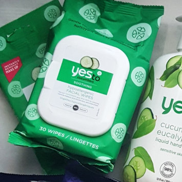 Photo of Yes To Cucumbers Shooting Hypoallergenic Facial Wipes uploaded by Karen D.