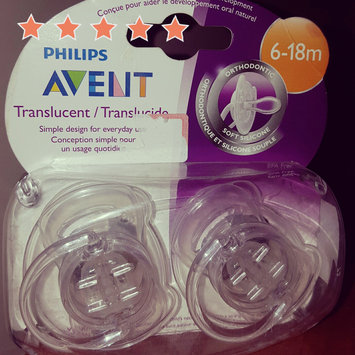 Photo of Avent Orthodontic Translucent Silicone Pacifier uploaded by Eloisa N.