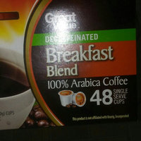 Great Value™ Decaffeinated Breakfast Blend Light 100% Arabica Coffee 48-0.31 oz. Cups uploaded by BRANDY R.
