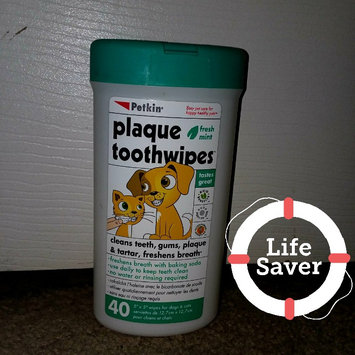 Photo of Petkin ToothWipes Tooth & Gum Cleanser uploaded by leah b.