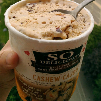 Photo of So Delicious® Cashew Milk Salted Caramel Non-Dairy Frozen Dessert 1 pt. Tub uploaded by Leona Y.