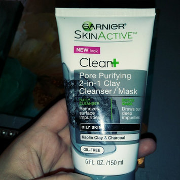 Garnier® SkinActive™ Clean+ Pore Purifying 2-in-1 Clay Cleanser/Mask for Oily Skin 5 fl. oz. Tube uploaded by Mylet C.