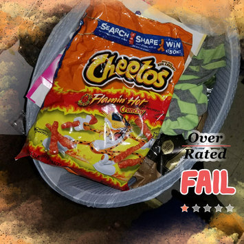 Cheetos Flamin' Hot Crunchy Cheese Flavored Snacks uploaded by OnDeane J.