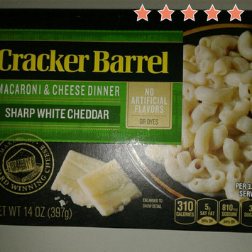 Photo of Cracker Barrel Vermont Sharp White Cheddar Macaroni & Cheese Dinner 14 oz. Box uploaded by Kristal R.