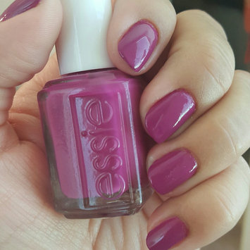 Photo of essie plums nail color, flowerista uploaded by Chaya K.