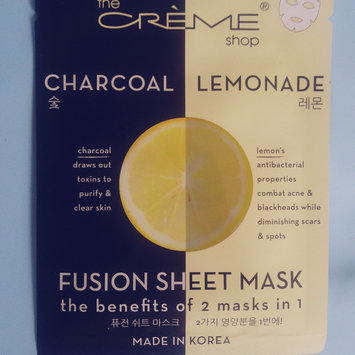 Photo of the CRÈME shop Charcoal & Lemon Fusion Sheet Mask uploaded by Jill H.