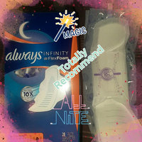 Always® Infinity™ Size 4 Overnight Pads uploaded by Shalayna G.