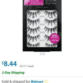 Photo of Salon Perfect Perfectly Glamorous False Lashes, 615 Black uploaded by Lesly L.