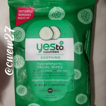 Photo of Yes To Cucumbers Shooting Hypoallergenic Facial Wipes uploaded by Criselda W.