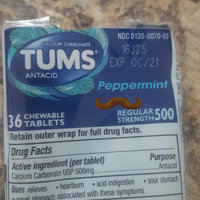 Tums® Regular Strength 500 Peppermint Antacid/Calcium Carbonate Chewable Tablets 36 ct Pack uploaded by Laura R.