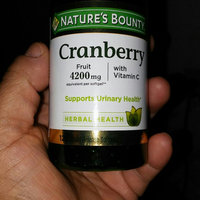 Nature's Bounty Cranberry 4200mg Plus Vitamin C Herbal Supplement Softgels - 250 CT uploaded by Stephanie S.