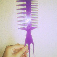 Wide tooth rake comb pearl shine color woman girl hair accessories , purple uploaded by Amber W.